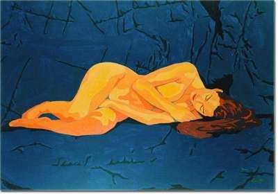 Nudo sdraiato - Opera dell'artista Carlo Rossi