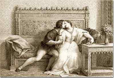 Paolo e Francesca uno dei 243 disegni della Divina Commedia
